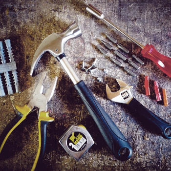 hammer and tools
