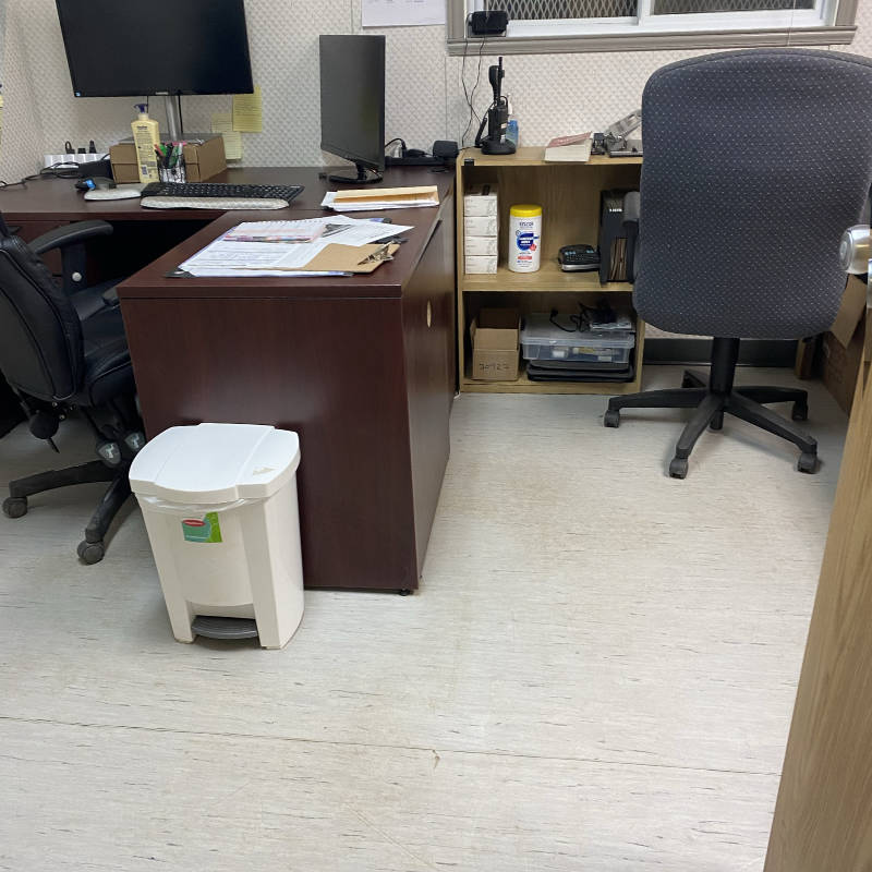 cleaned trailer office After